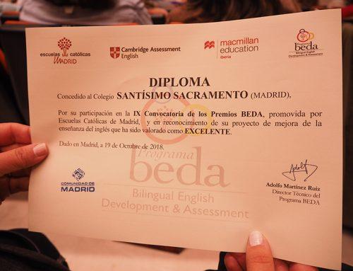 El proyecto #WhoAmI, ganador del Premio Euroescola 2018, obtiene ahora un Premio BEDA