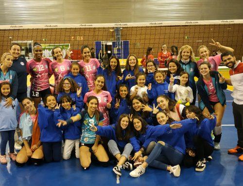 Las alumnas de Voleibol presencian un partido profesional de la Liga Iberdrola Femenina