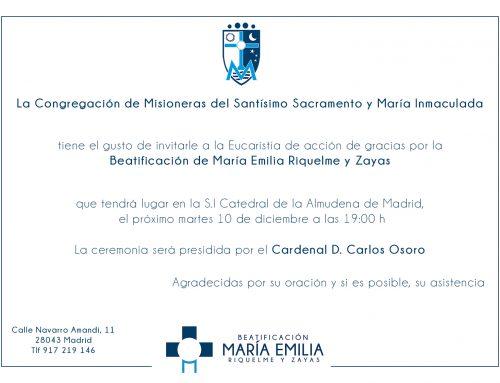 Eucaristía de acción de gracias Beatificación – Madrid
