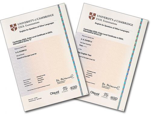 Entrega de diplomas Preliminary (B1) y First (B2) en ESO y Bachillerato